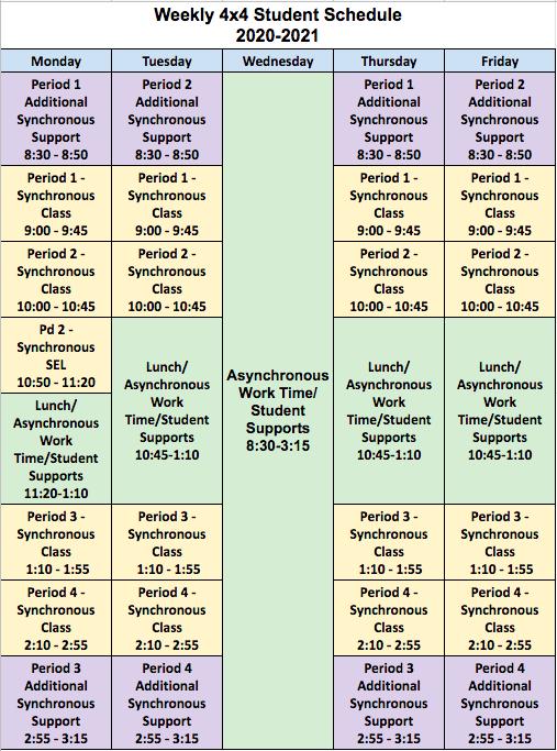 Bell Schedules   Centennial High School