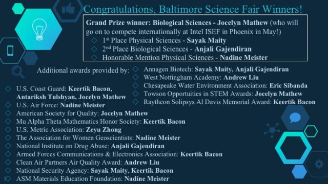 Baltimore Science Fair 2019