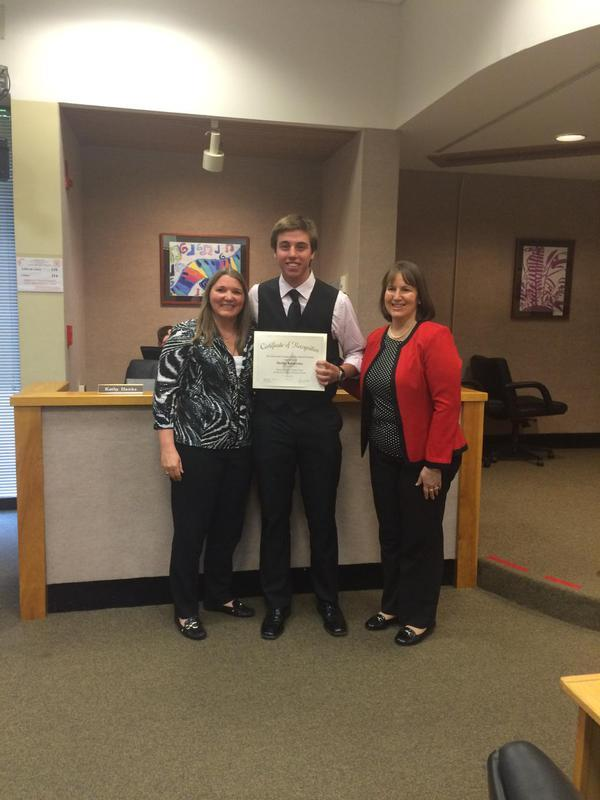 Congratulations to Phillip Balakirsky. He received a perfect score on his SAT!