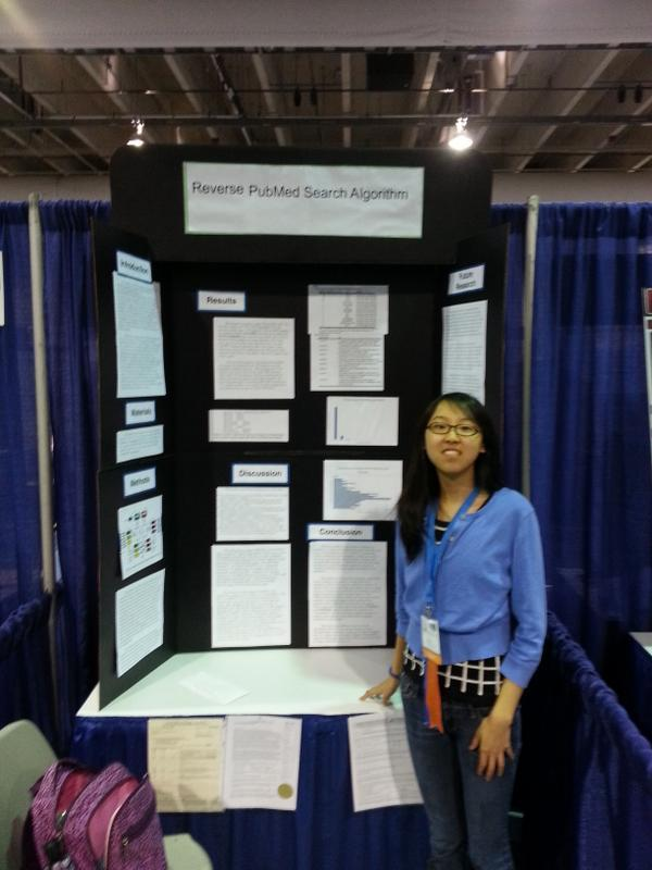 Mina Sun won the Oracle Academy Award of $5,000 for outstanding project in Systems Software category at Intel ISEF.